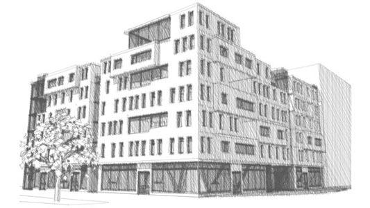 Architecture, Croquis, Immeuble, Logement collectif, ENSAL