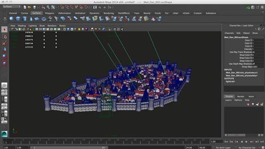 Medieval Generator, 3D, Maya